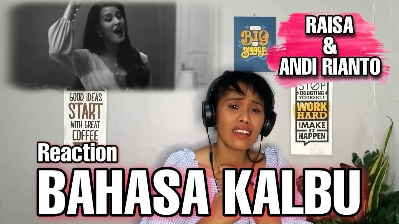 reaction raisa bahasa kalbu youtube