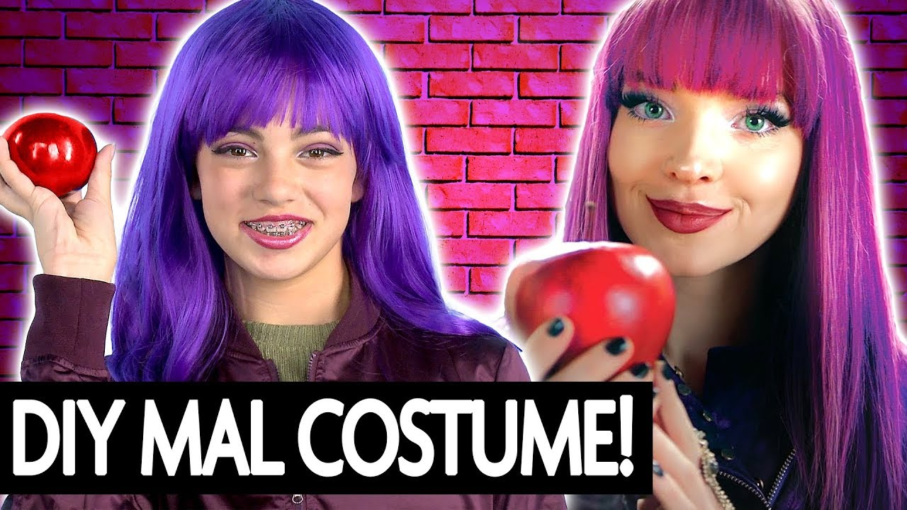 Mal Descendants 2 DIY Costume & Makeup! | Halloween 2017