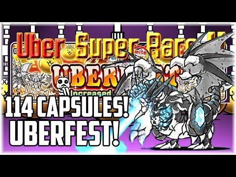 The Battle Cats | Uberfest Rare Capsule Opening (114 capsules) Hunt of the Gao Cat!