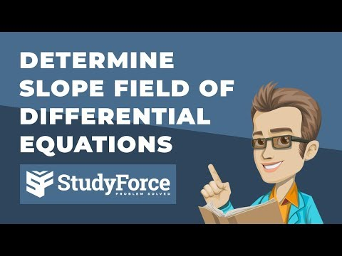 📚 How to determine the slope field of differential equations