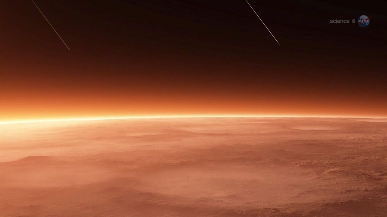 Sciencecasts Colliding Atmospheres Mars Vs Comet Siding