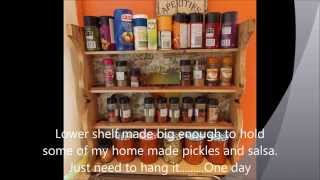 Rustic Spice Rack From Pallets