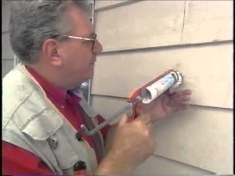 How To Repair A Hole In Wood Siding Youtube
