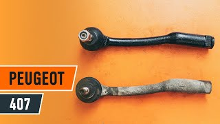 How to change Tie rod end on PEUGEOT 407 (6D_) - online free video