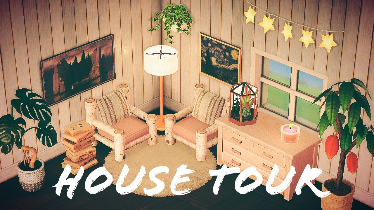 My House Tour Redesigned Animal Crossing New Horizons Youtube