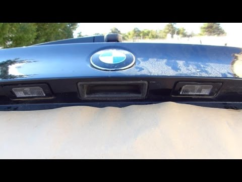 How to change a licence plate light on BMW E90 - YouTube