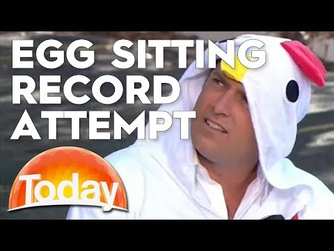 Egg Sitting World Record Attempt | TODAY Show Australia