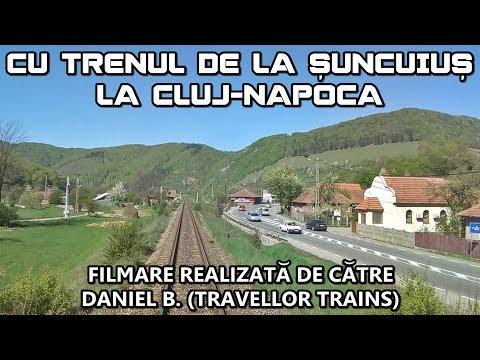 Cu trenul de la Şuncuiuş la Cluj-Napoca   Rear-view (Vedere din spate)