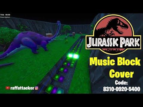 JURASSIC PARK THEME - FORTNITE MUSIC BLOCK COVER