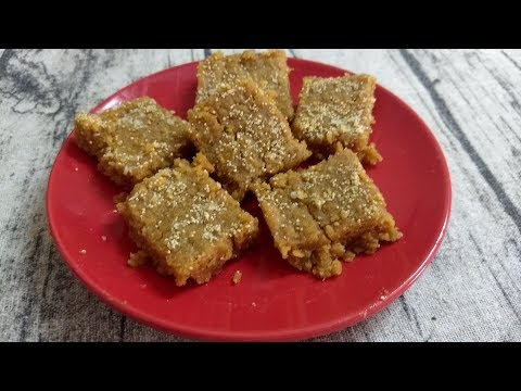Sukhadi Recipe  Gud Papdi Gur Papri  Gujarati Sweets Recipe in Just 10 mins