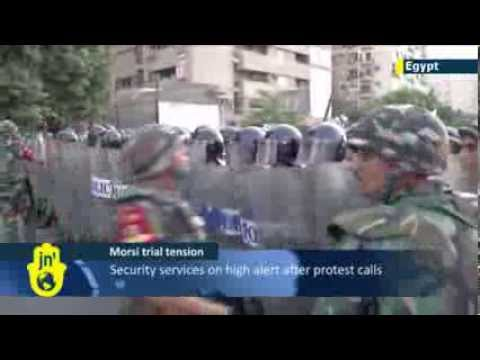 Ex-Egyptian President Mohammed Morsi goes on trial: Muslim Brotherhood protests expected in Cairo