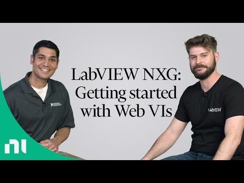 LabVIEW NXG: Getting Started With Web VIs