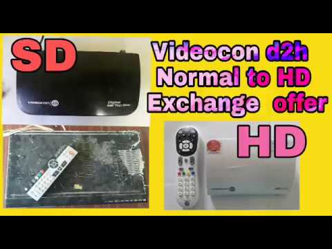Videocon D2h SD To HD Exchange  ( Upgrade ) Offer