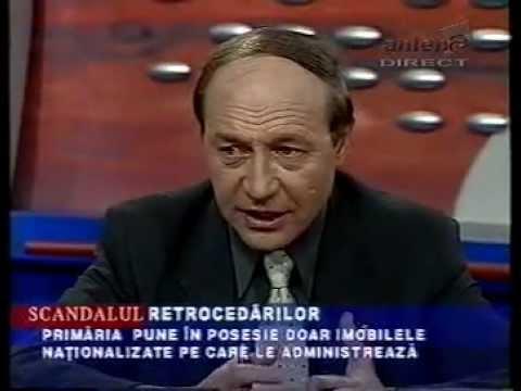 1.10.2001 - Despre PD si situatia retrocedarilor la Primaria Capitalei