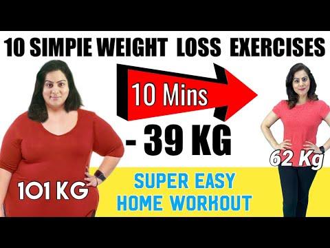 वजन और पेट की चर्बी घटाएं सिर्फ 10 मिनट में |10 Simple & Easy Exercises To Lose Weight Fast at Home
