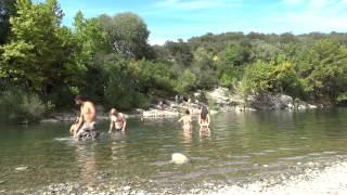 Le Pont de Saint Etiènne d'issensac site de baignade Herault gorges
