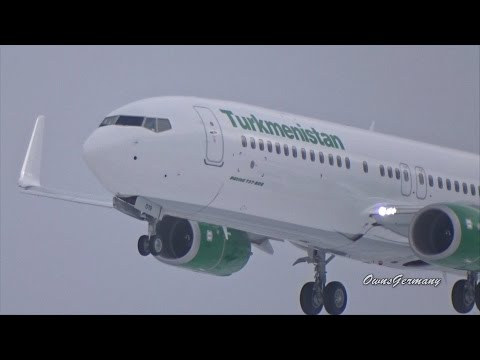 Turkmenistan Boeing 737-800 EZ-AO19 First Flight w/ Touch n' Go & Missed Approach