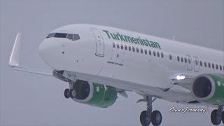 Turkmenistan Boeing 737-800 EZ-AO19 First Flight w/ Touch n