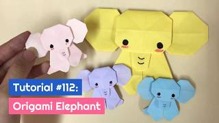DIY Origami Elephant Tutorial | The Idea King Tutorial #112