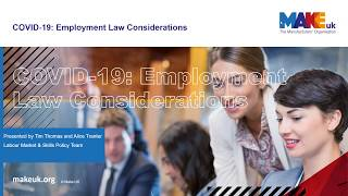 COVID-19:  Employment law considerations