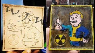 Vault Tec Vault Boy from Fallout leather Patch