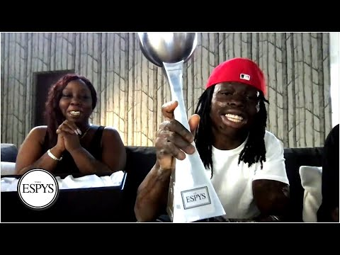 Taquarius Wair wins Jimmy V Award for Perseverance by overcoming life-threatening burns | 2020 ESPYS