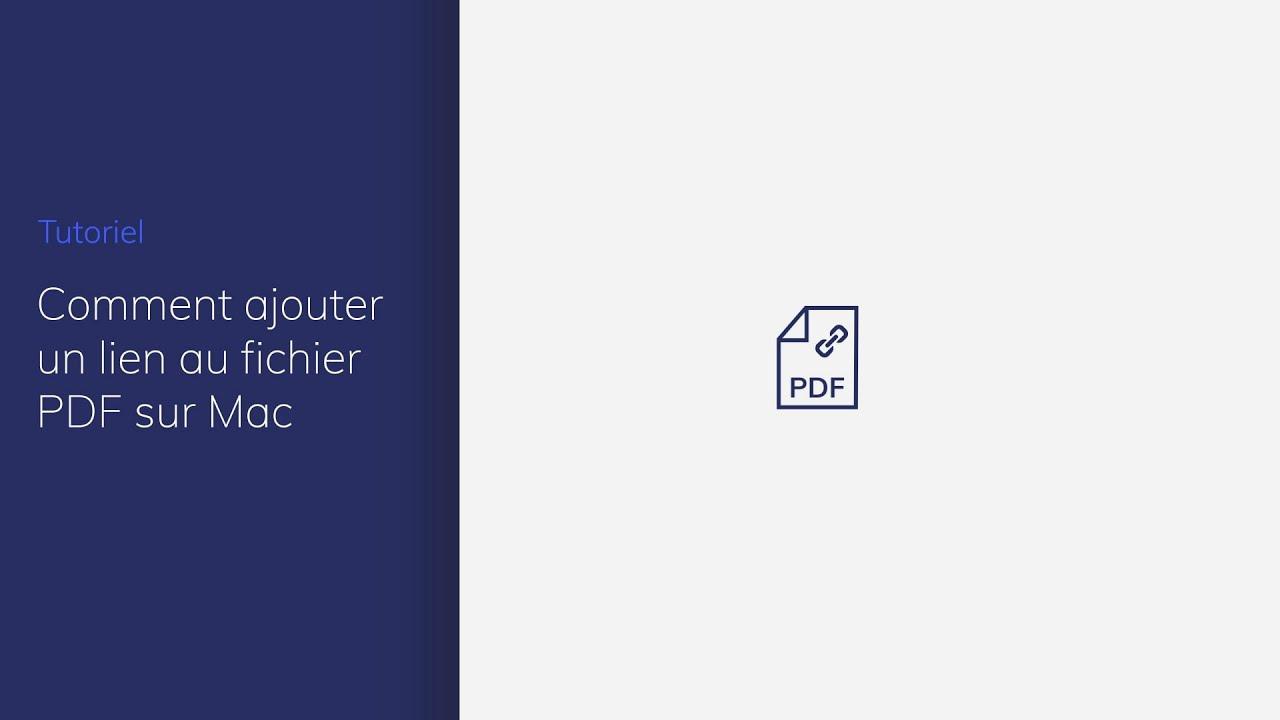 Comment Ajouter Un Lien Hypertexte Dans Un Pdf Sur Mac Youtube
