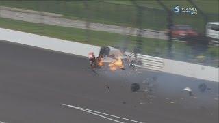 IndyCar Series 2017. Qualifying 1 Indy 500. Sébastien Bourdais Horrible Crash