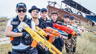 LTT Game Nerf War : Warriors SEAL X Nerf Guns Fight Crime group Bad Man Detachment Captain