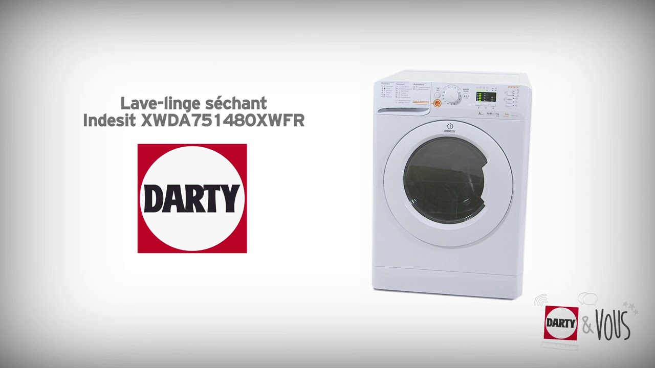 lave linge s chant indesit xwda751480xwfr d monstration darty youtube