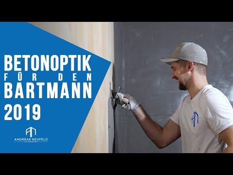 Betonoptik , Loftstyle für BARTMANN Barbershop UMBAU 2019