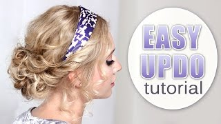 Quick and easy prom/party/wedding updo hairstyle ❤ Curly hair tutorial