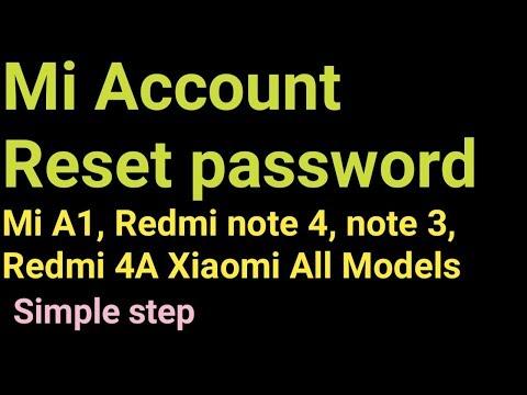 remove mi account reset and forgot password