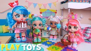Play Kindi Kids Dolls Slumber Party with Beauty Spa Toys!