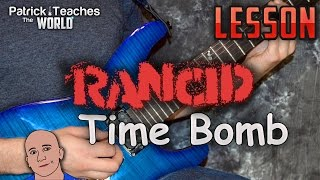 Rancid-Time Bomb-Guitar Lesson-Tutorial-How to Play-Solo