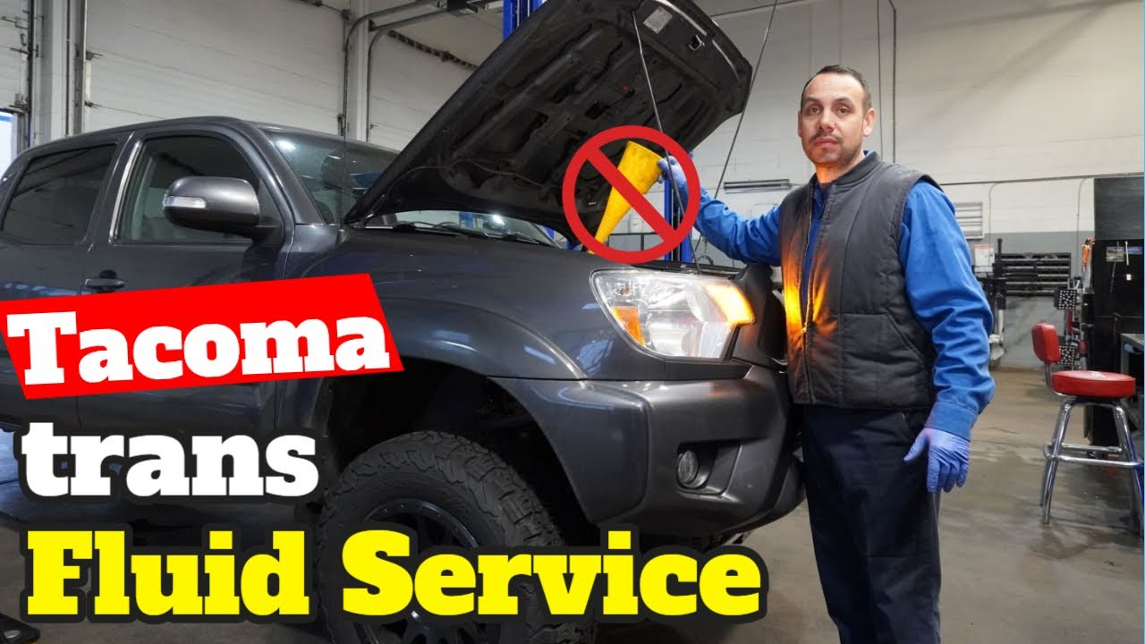 Toyota Tacoma Transmission Fluid Change Do It At Home Youtube