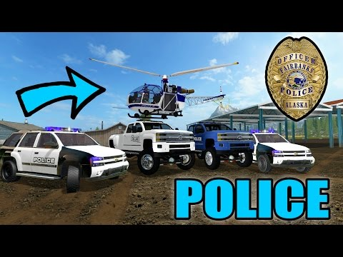 FARMING SIMULATOR 2017   POLICE STATION CONSTRUCTION   POLICE CHASE   MULTIPLAYER