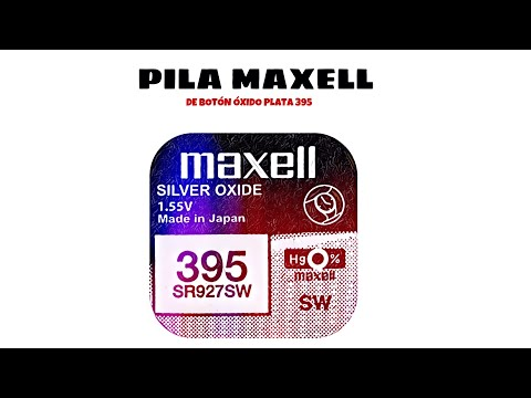 Video de Pila maxell de boton oxido plata 395 SR927SW