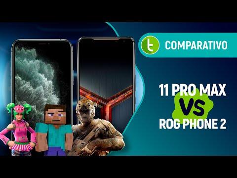 IPHONE 11 PRO MAX Vs ROG PHONE 2: GUERRA Entre O MELHOR De Dois MUNDOS DIFERENTES   Comparativo