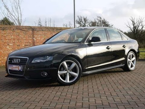 2008 audi a4 s line 1 8tfsi saloon black for sale in hampshire youtube. Black Bedroom Furniture Sets. Home Design Ideas