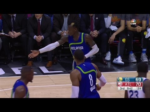 Dwight Howard and Dennis Schroder ARGUE | Warriors vs Hawks | 3.6.17 | 16-17 NBA Season
