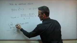 Tasa de Variacion Media SECUNDARIA (2ºESO) matematicas TVM