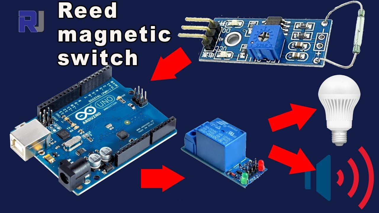 Using Reed Magnetic Switch With Arduino And Relay Youtube Mag Ic Proximity Wiring Diagram