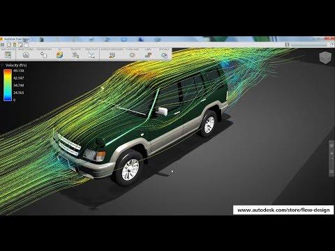 Autodesk Flow Design - A Virtual Wind Tunnel On Your Desktop