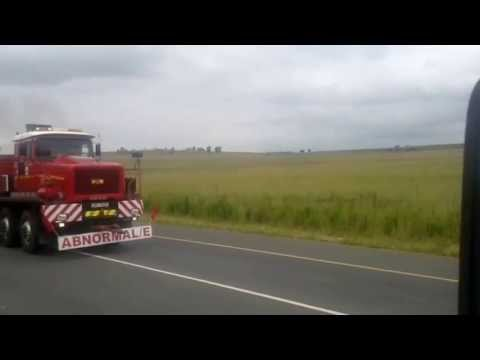 Super abnormal load transported in South Africa,,,