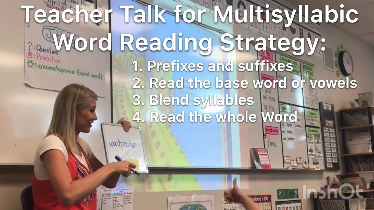 Multisyllabic Word Reading Strategy Video (2nd Grade Text) - YouTube [ 720 x 1280 Pixel ]