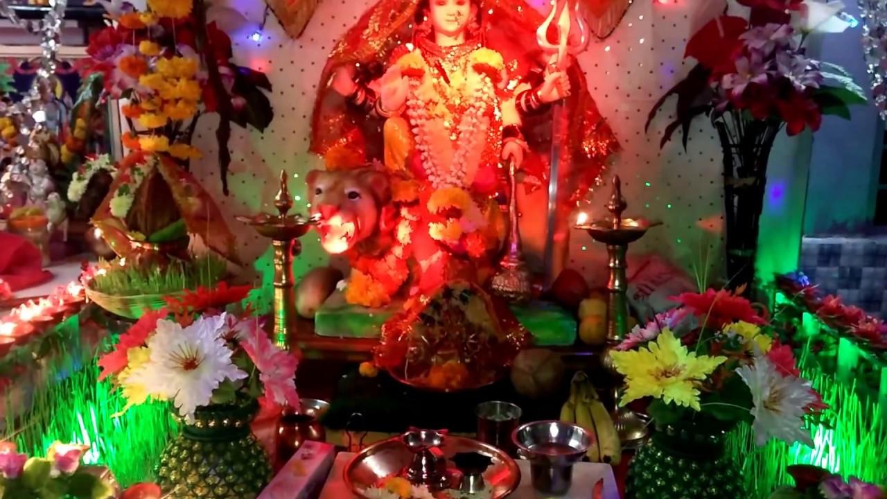 Navratri Decoration Home Made
