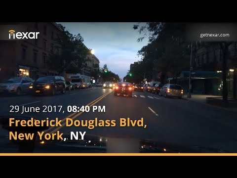 Parked vehicle merges right into driver on Frederick Douglass Blvd, NYC