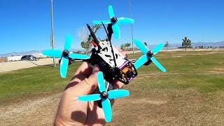 Helifar Turtles 135mm Brushless FPV Racing Drone Flight Test Review