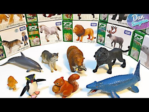 DINOSAURS, FARM ANIMALS & SEA ANIMALS TOY COLLECTION for Kids Takara Tomy Learn Fun Animal Names